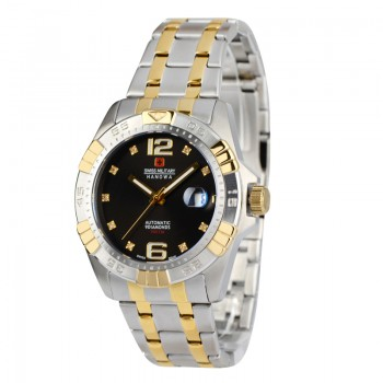 瑞士軍錶50周年紀念鑽錶(黑)